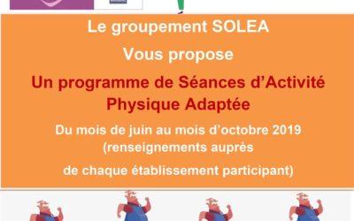 Le groupement SOLEA développe l'Activité Physique Adaptée